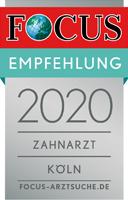 Focus Empfehlung 2020 Zahnarzt Zentrum für Zahnmedizin Neusser Straße