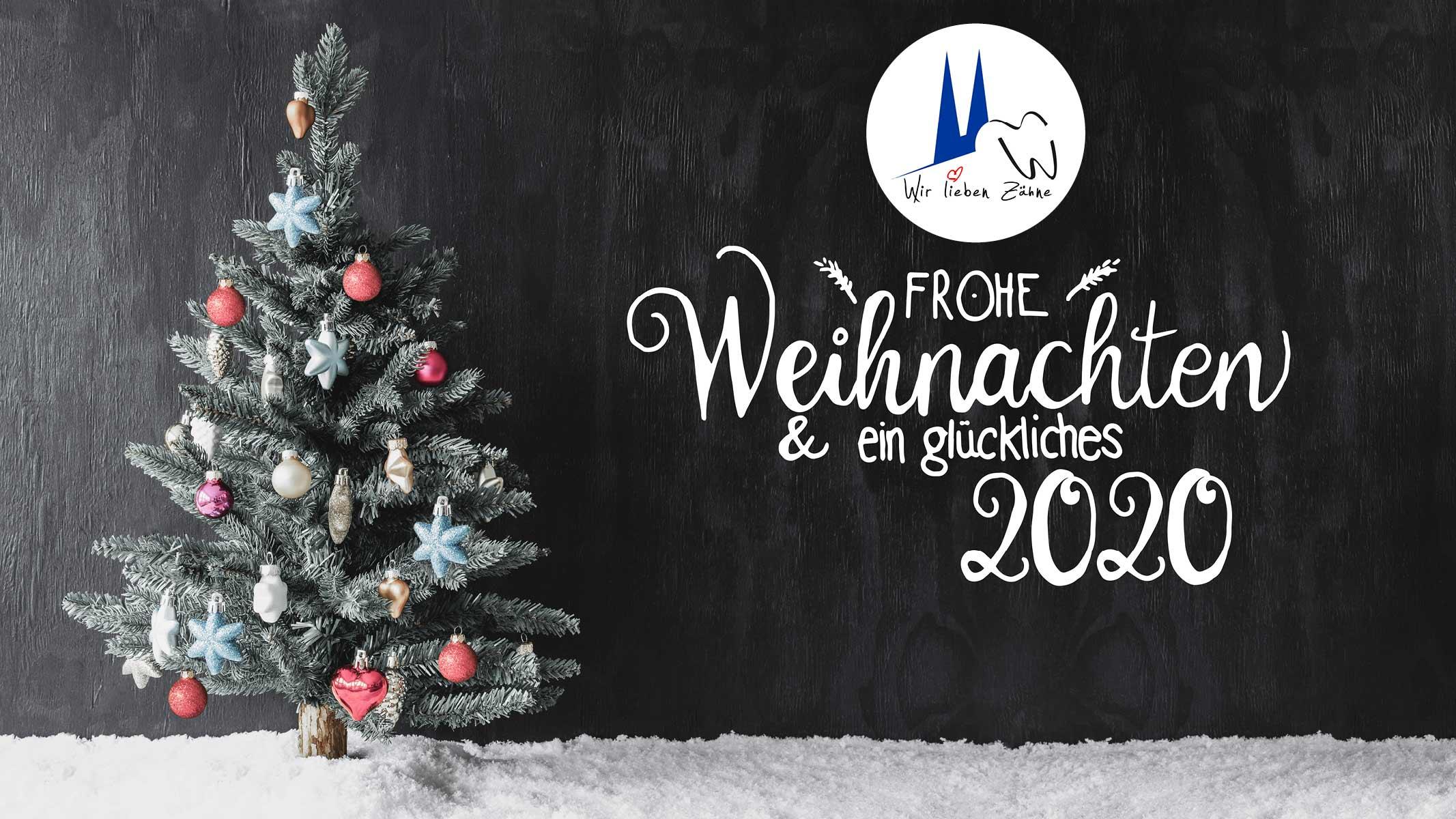 Das ganze Zentrum für Zahnmedizin Neusser Straße wünschte frohe Weihnachten 2020.