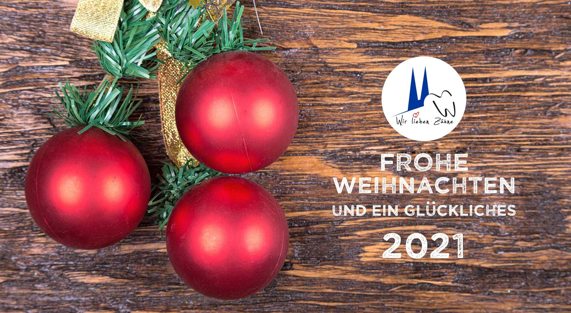 Weihnachten 2020 in unserer Zahnarztpraxis in Köln.